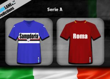 Прогноз матча Сампдория – Рома 24 января