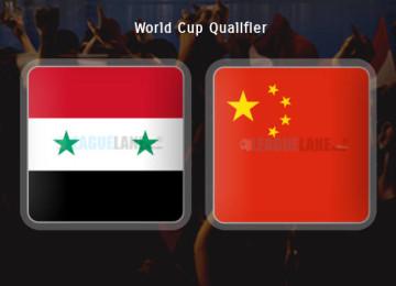 Прогноз матча Сирия – Китай 14 ноября
