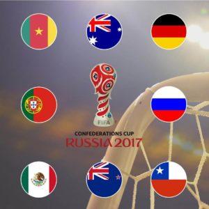 ФЛаги Участников Кубка Конфедераций 2017 года