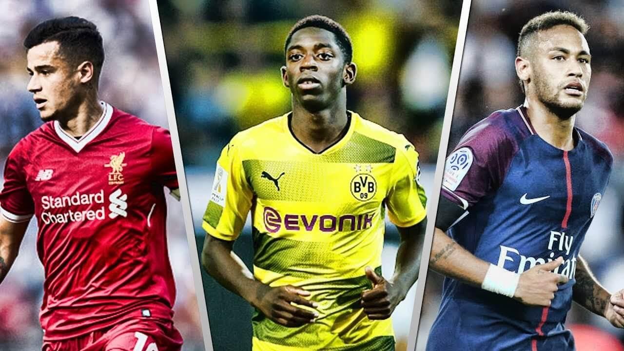 Дорогие трансферы в футболе:Неймар, Коутиньо, Дембеле