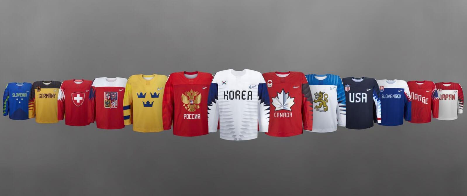 Сборные команды участвующие в олимпийских играх - форма команд