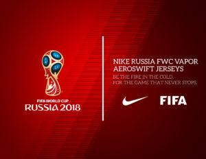 Официальный логотип ЧМ-2018 на красном фоне