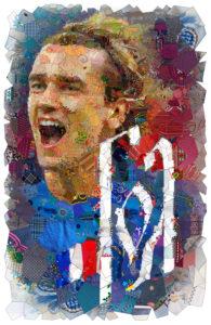 Гризманн плакат на чемпионат мира по футболу 2018 года