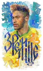 Неймар плакат на чемпионат мира по футболу 2018 года