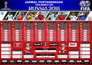 Таблица с футболистами чемпионата мира в Российской Федерации