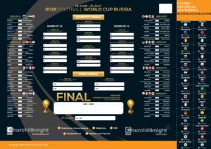 Календарь чемпионата мира по футболу 2018 года в высоком разрешении