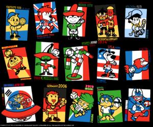Все талисманы чемпионата мира по футболу