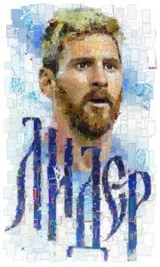 Лионель Месси плакат на чемпионат мира по футболу 2018 года