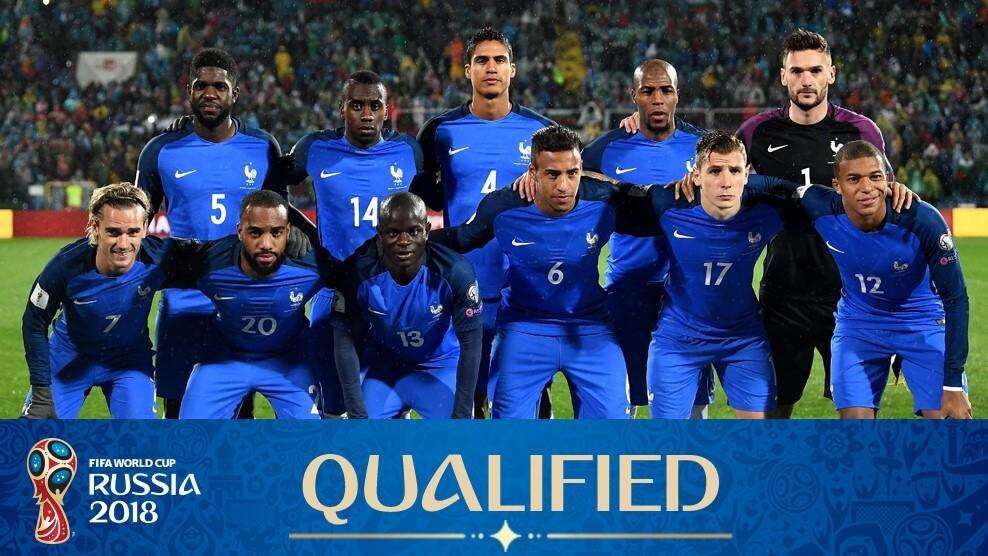 Сборная Франции на чемпионате мира по футболу 2018 года