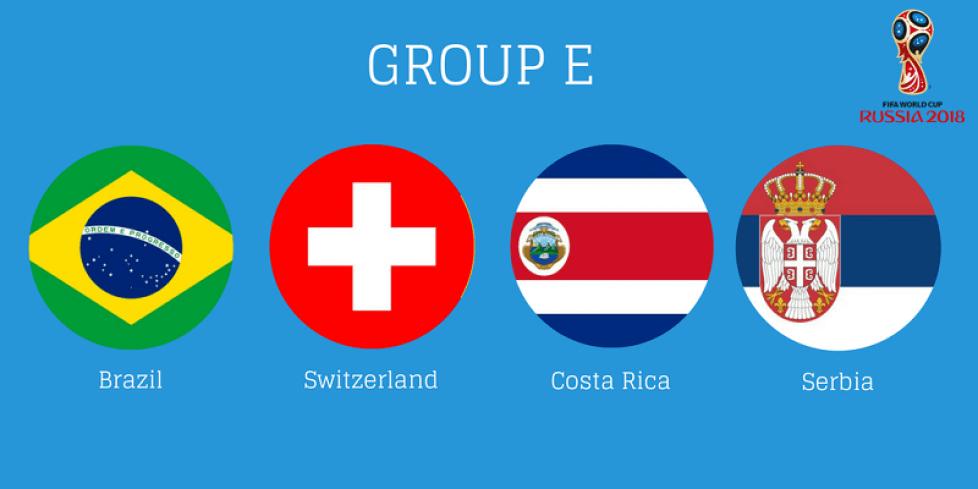 Состав группы Е на чемпионате мира по футболу 2018 года