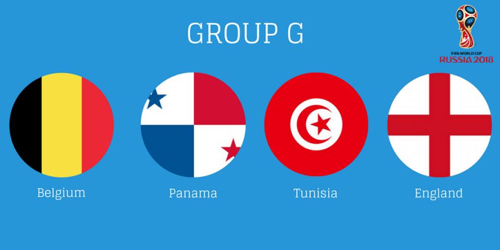 Состав группы G на чемпионате мира по футболу 2018 года
