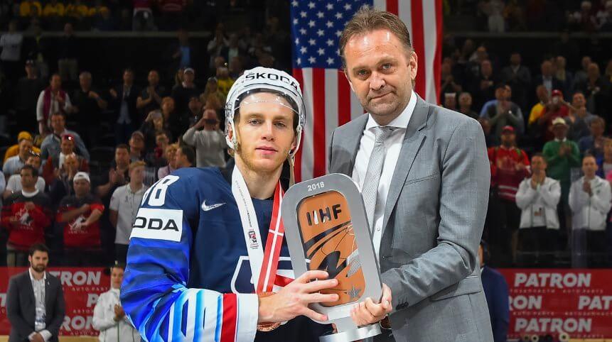Патрик Кейн - лучший игрок чемпионата мира по хоккею 2018 года