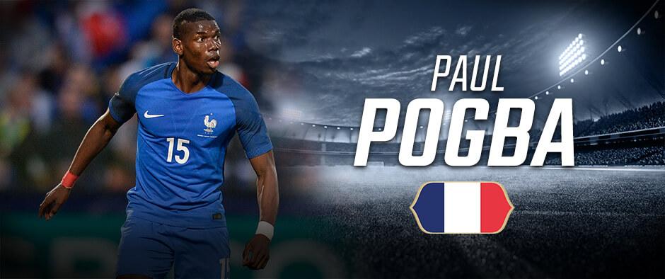 Поль Погба - французский футболист на чемпионате мира по футболу в России