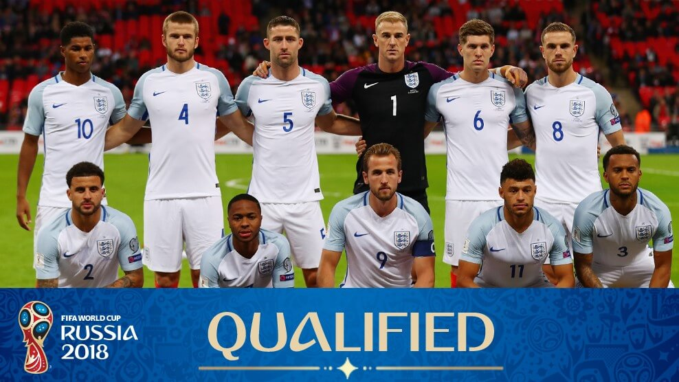Сборная Англии на чемпионате мира по футболу 2018 год