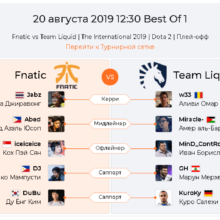 Прогноз Fnatic — Team Liquid 20 августа
